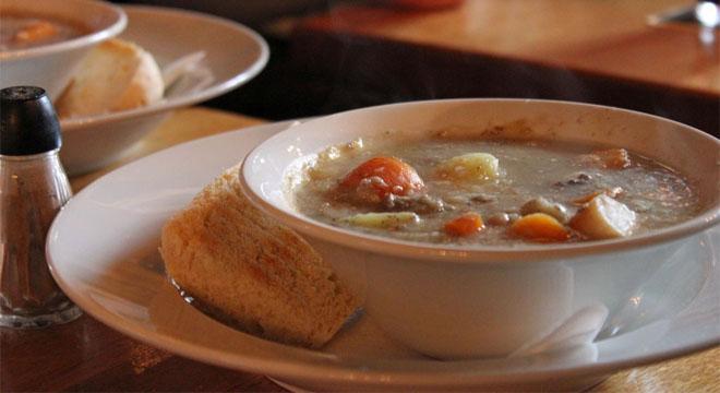 Traditional Irish stew at The Irish House, Aalborg